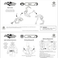 Alter Nation Phase 1 Action Figure Instruction Sheets