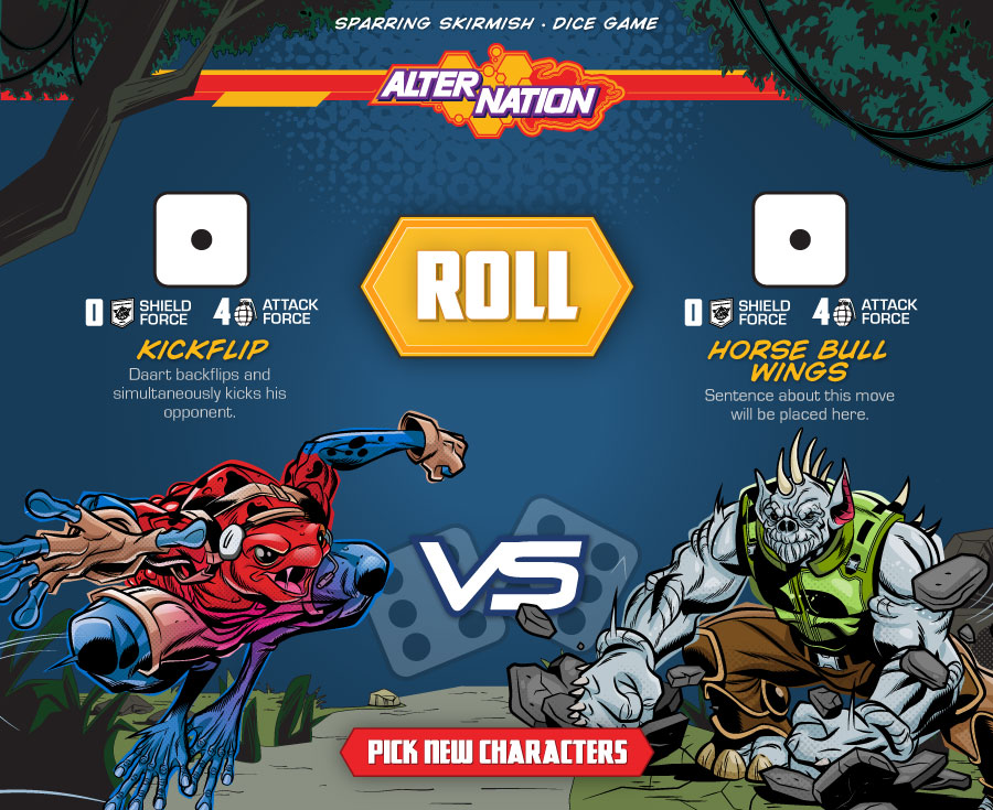 Dice Roller Free Skirmish Game for kids ages 6 and up